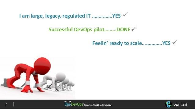 Inclusive…Flexible….IntegratedInclusive…Flexible….Integrated Iamlarge,legacy,regulatedIT……………YES SuccessfulDevOps...