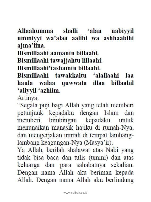 Doa Lengkap Ibadah Haji dan Umroh saibah Slide 2