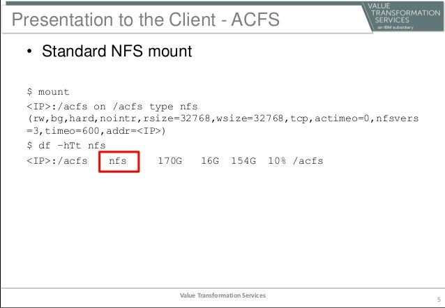 Comparison of ACFS and DBFS
