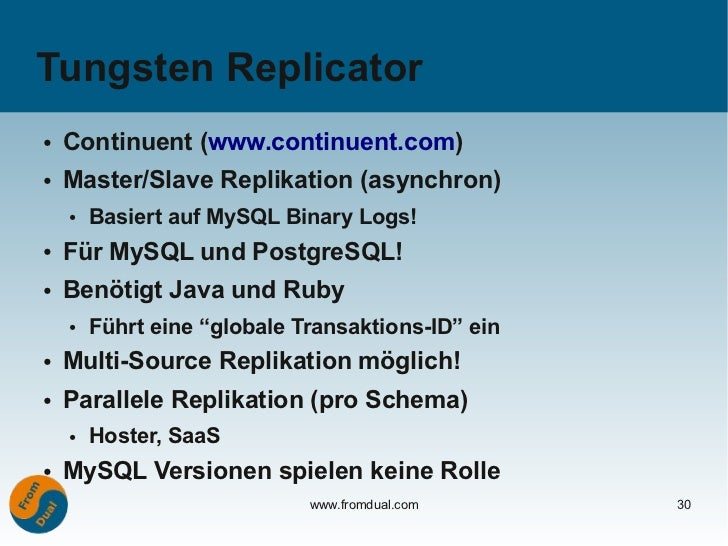 doag 2011 mysql replication. Black Bedroom Furniture Sets. Home Design Ideas
