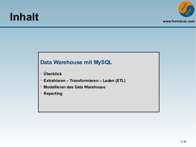 how to create data warehouse in mysql