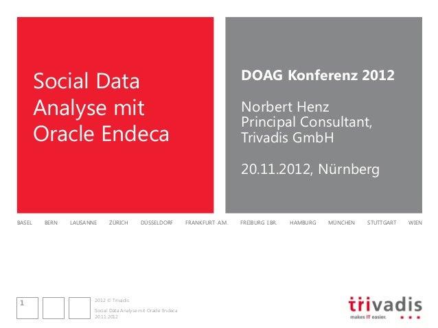 DOAG Konferenz 2012        Social Data        Analyse mit                                                             Norb...