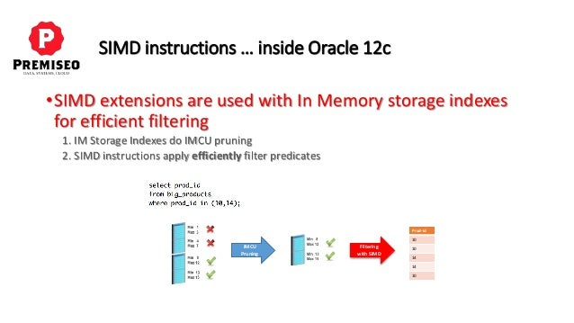 Simd Inside And Outside Oracle 12c