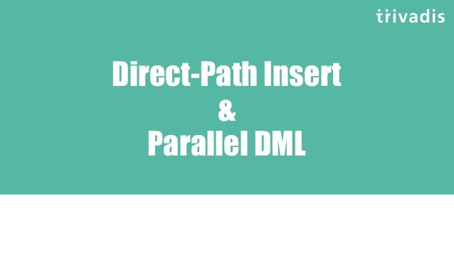 Space Management with PDML and MERGE? SQL> MERGE /*+ append parallel*/ 2 INTO t_tgt_join t0 3 USING ( SELECT ... ---------...