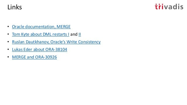 MERGE SQL Statement: Lesser Known Facets