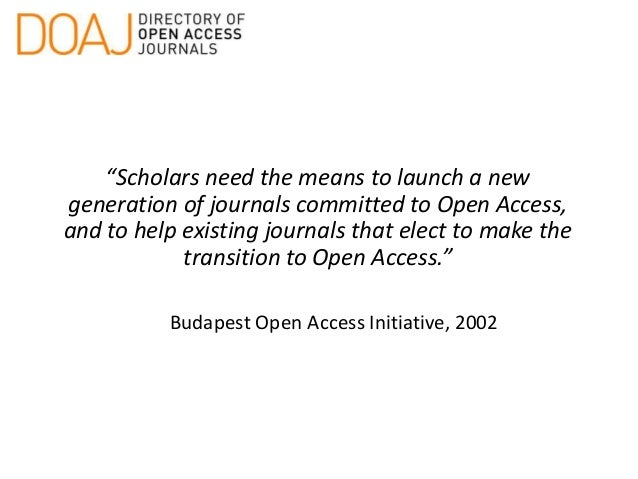 Using OJS to manage & publish your online Open Access journal