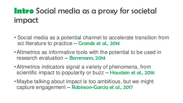 Do altmetrics capture societal engagement? A comparison between survey data and social media data Slide 3