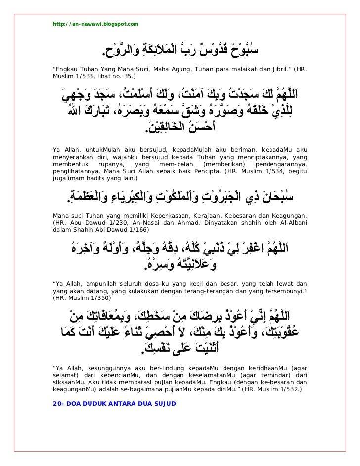 Doa Masnun Hisnul Muslim Imam An Nawawi