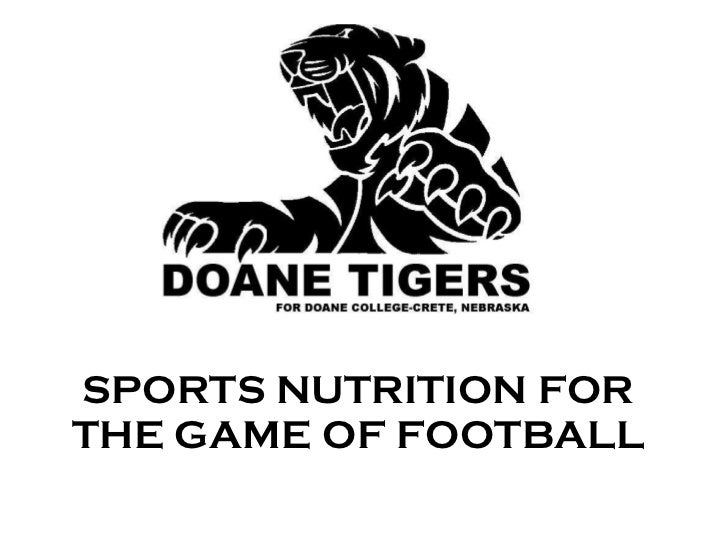 SPORTS NUTRITION FOR THE GAME OF FOOTBALL