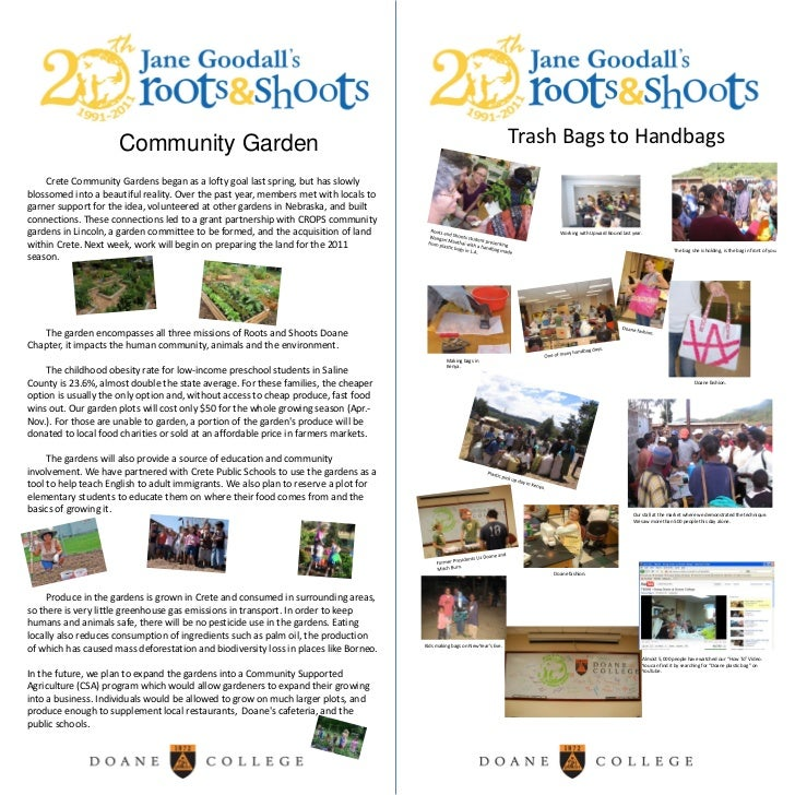 Trash Bags to Handbags <br />Community Garden<br />Crete Community Gardens began as a lofty goal last spring, but has slo...