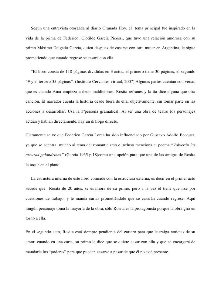 Según una entrevista otorgada al diario Granada Hoy, el tema principal fue inspirado en lavida de la prima de Federico, Cl...