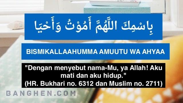Doa Sebelum Tidur Islam Sesuai Sunnah Rasulullah (Ayat