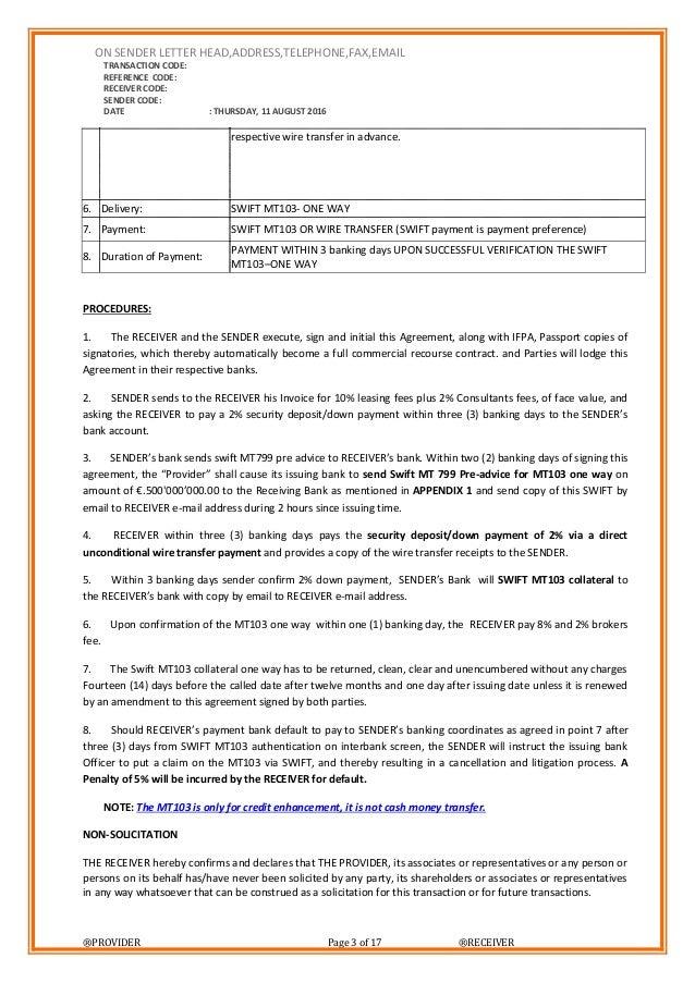 M S Bank Letter
