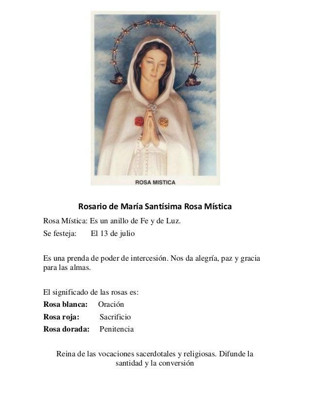 Oracion A La Rosa Mistica Consagracion A Maria Rosa