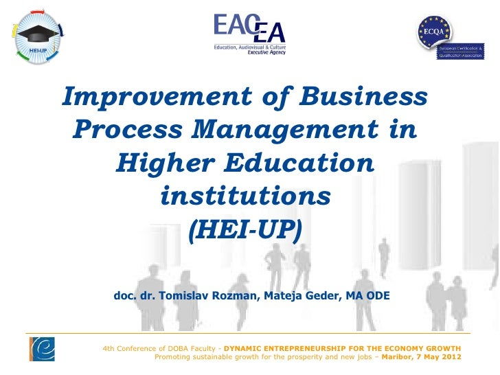 Improvement of Business Process Management in    Higher Education       institutions         (HEI-UP)    doc. dr. Tomislav...