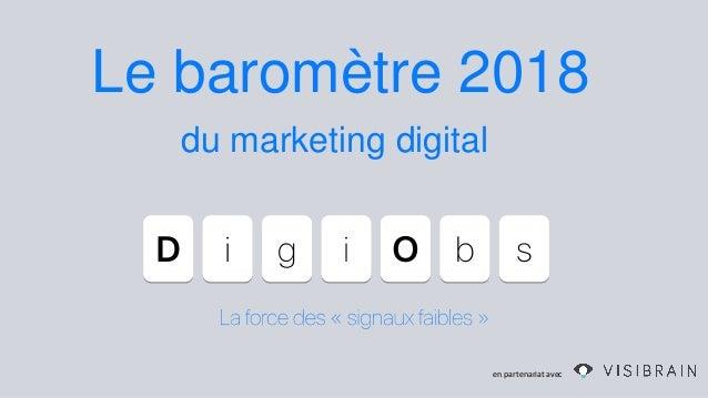 Le baromètre 2018 en partenariat avec du marketing digital
