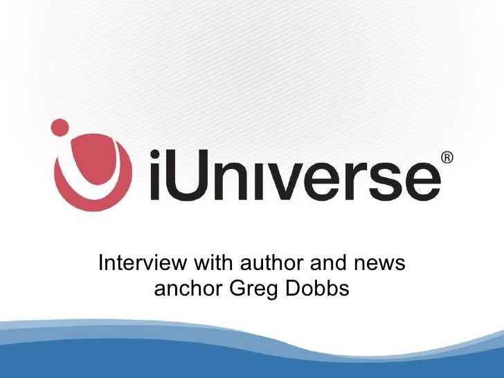 Interview with author and news anchor Greg Dobbs