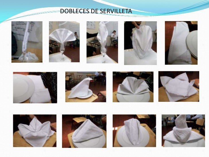 DOBLECES DE SERVILLETA