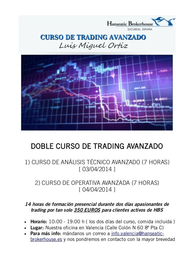 DOBLE CURSO DE TRADING AVANZADO 1) CURSO DE ANÁLISIS TÉCNICO AVANZADO (7 HORAS) [ 03/04/2014 ] 2) CURSO DE OPERATIVA AVANZ...