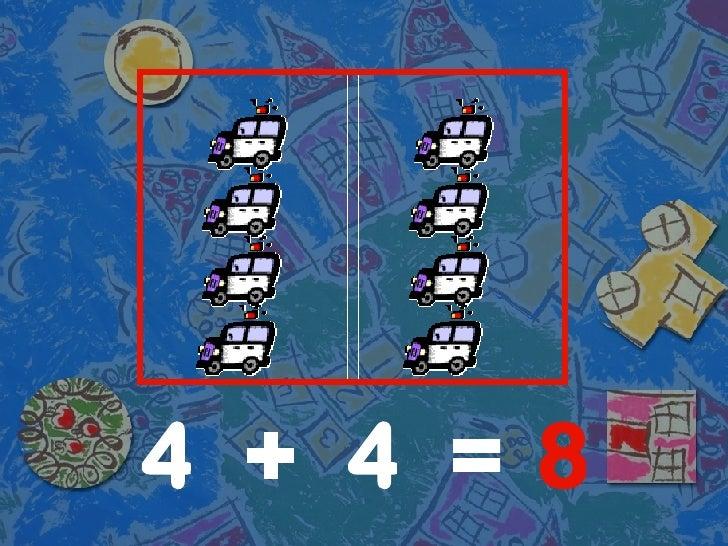 4 4 8 + =