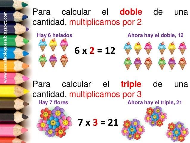 Resultado de imagen de EL DOBLE Y EL TRIPLE