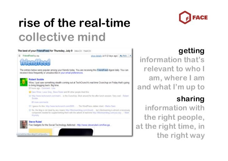 rise of the real-time collective mind                                     getting                          information tha...