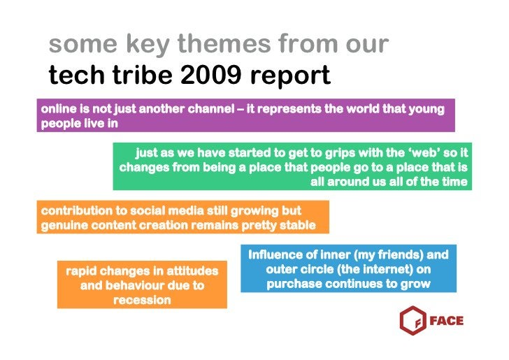 some key themes from our  tech tribe 2009 report online is not just another channel – it represents the world that young p...