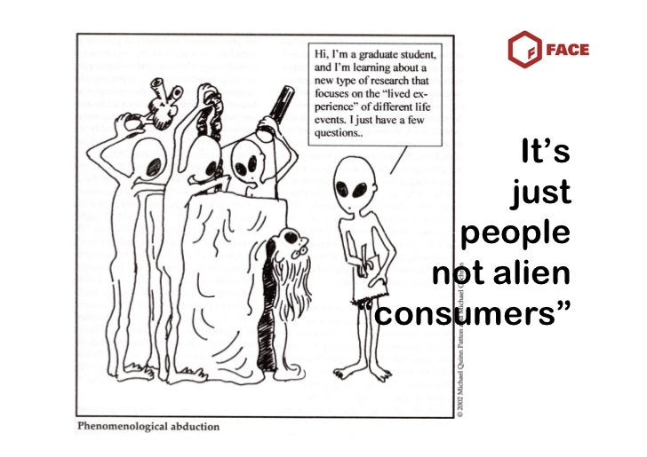 """It's          just      people     not alien """"consumers"""""""