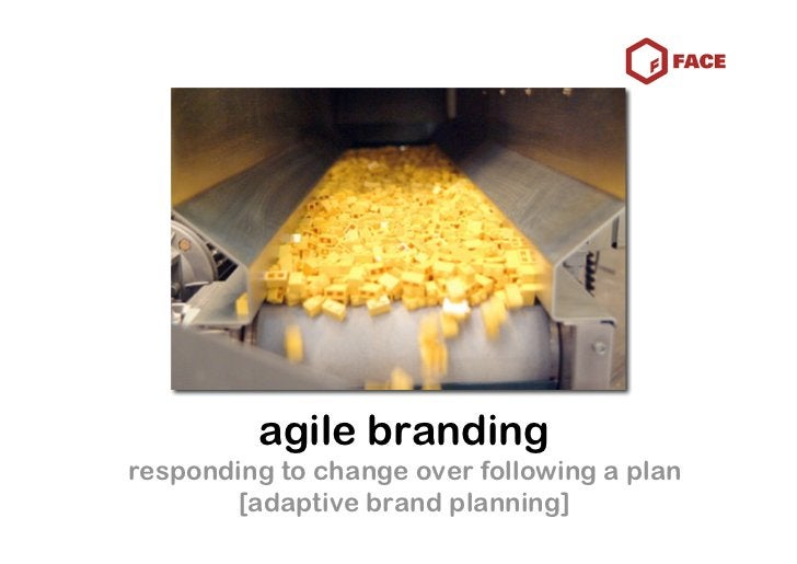 agile branding responding to change over following a plan         [adaptive brand planning]