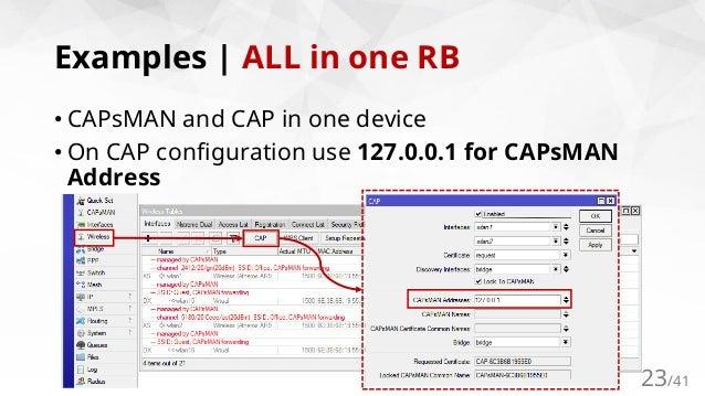 CAPsMANv2 | Wireless APs Controller by MikroTik