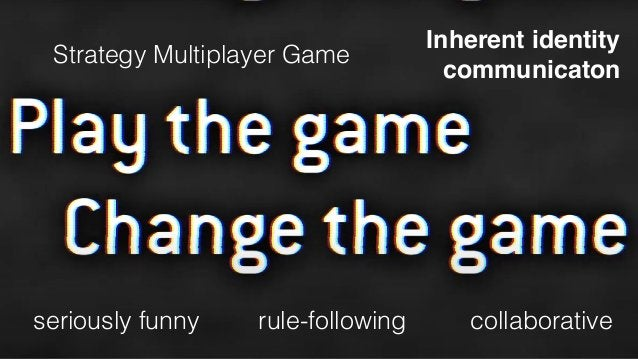 Strategy Multiplayer Game Inherent identity  communicaton seriously funny rule-following collaborative