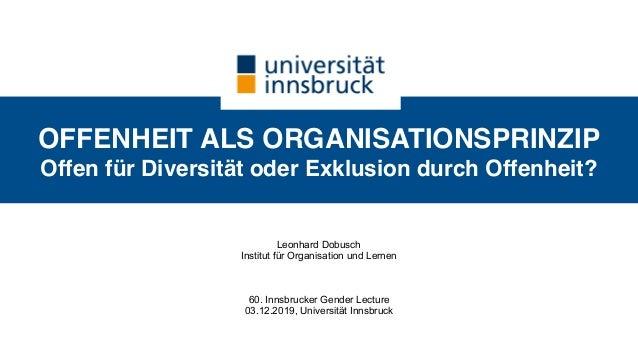 Offenheit Als Organisationsprinzip Offen Für Diversität