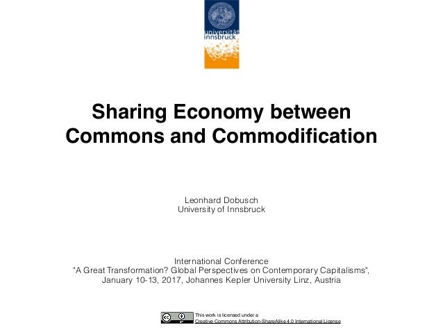Sharing Economy between 