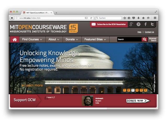 Massive Open Online Courses (MOOCs)