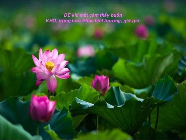 DỂ khi mất cảm thấy buồnKHÓ, trong hữu Phúc biết thương, giữ gìn.