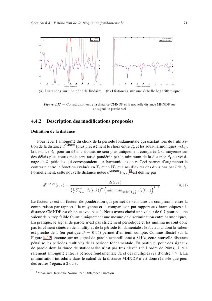 Section 4.4 : Estimation de la fréquence fondamentale                                                                     ...