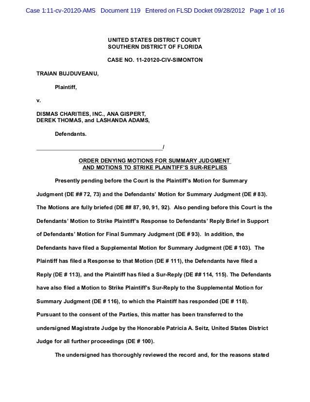 Case 1:11-cv-20120-AMS Document 119 Entered on FLSD Docket 09/28/2012 Page 1 of 16                               UNITED ST...