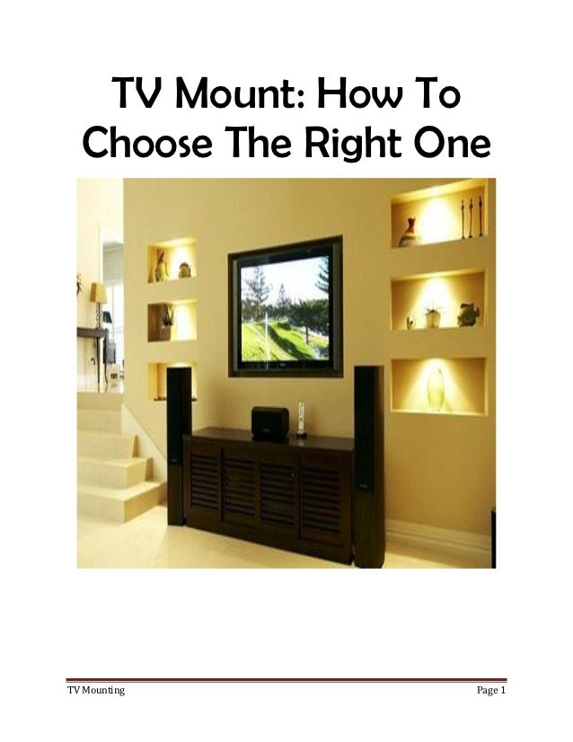How To Buy The Right TV Wall Mount For Your Home