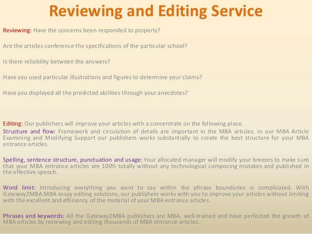 MBA Personal Statement Editing & Essay Proofreading Services