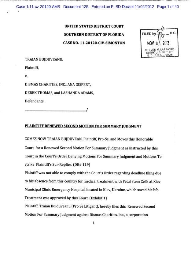 Case 1:11-cv-20120-AMS Document 125 Entered on FLSD Docket 11/02/2012 Page 1 of 40                        UNITED STATES DI...