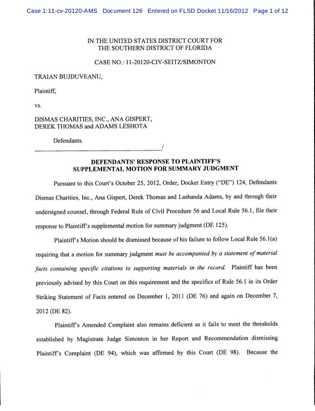 Case 1:11-cv-20120-AMS Document 126 Entered on FLSD Docket 11/16/2012 Page 1 of 12                        IN THE UNITED ST...