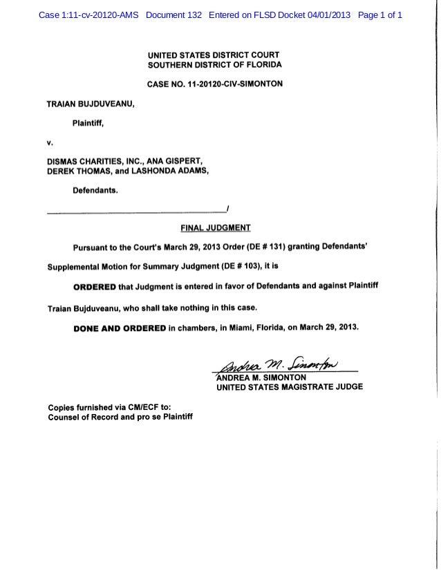 Case 1:11-cv-20120-AMS Document 132 Entered on FLSD Docket 04/01/2013 Page 1 of 1                        UNI              ...
