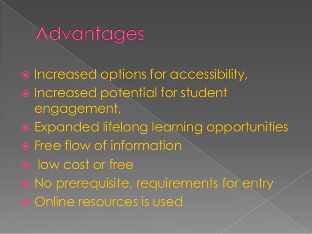  Moocs are seven to fourteen weeks long  Self motivation and commitment  individual instruction,  student performance ...