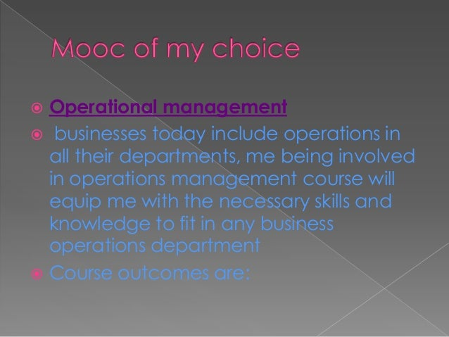  Learners must explain the theory of O.M  View O.M as an enabler for organisational strategy  Understand sequence and p...