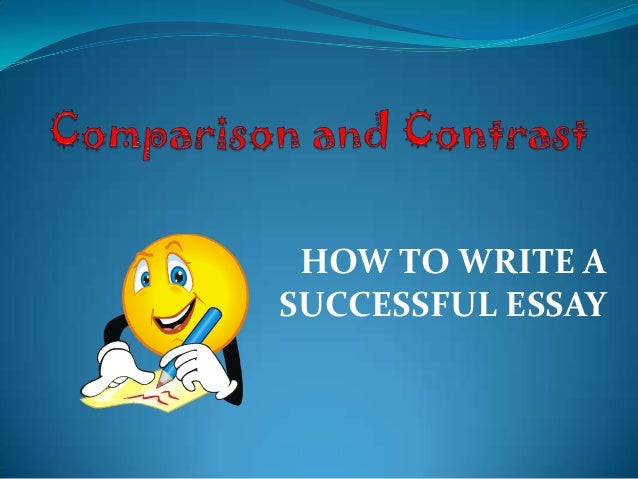 comparison and contract essay The comparison and contrast guide outlines the characteristics of the genre and provides direct instruction on the methods of organizing, gathering ideas, and writing.