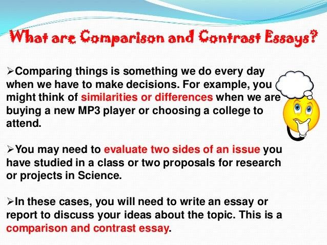 comparison paragraph