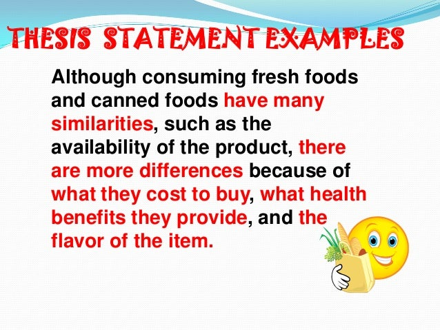 comparison contrast essay thesis statement