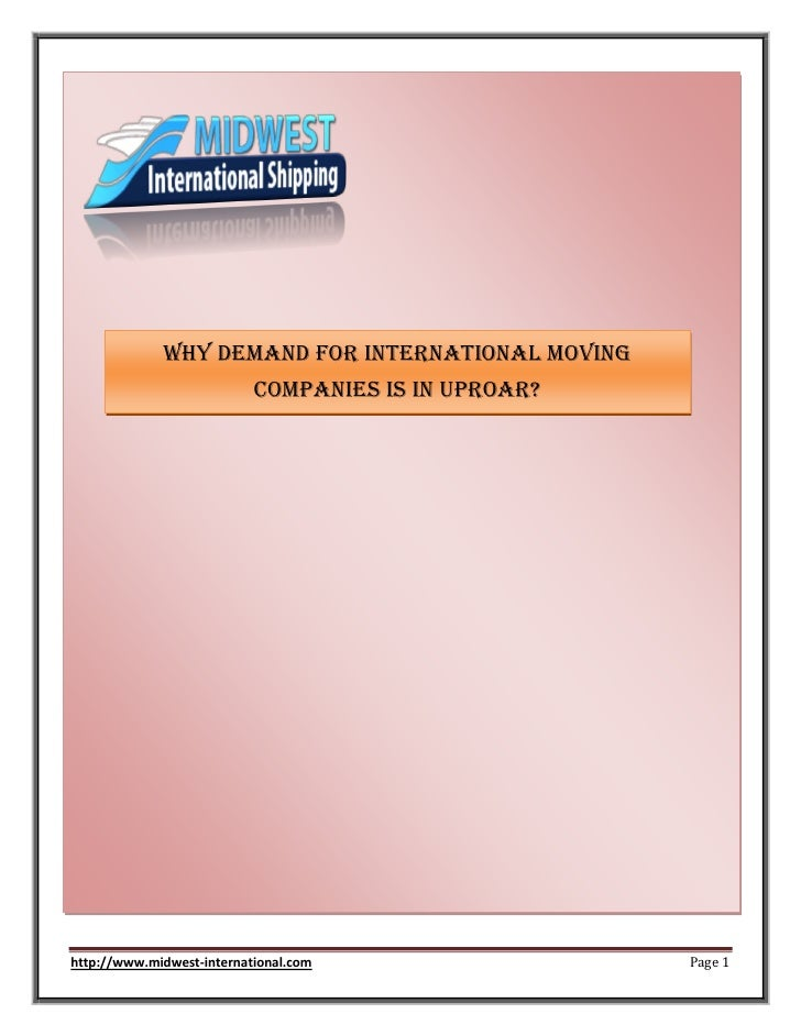 Why Demand for International Moving                           Companies Is In Uproar?http://www.midwest-international.com ...