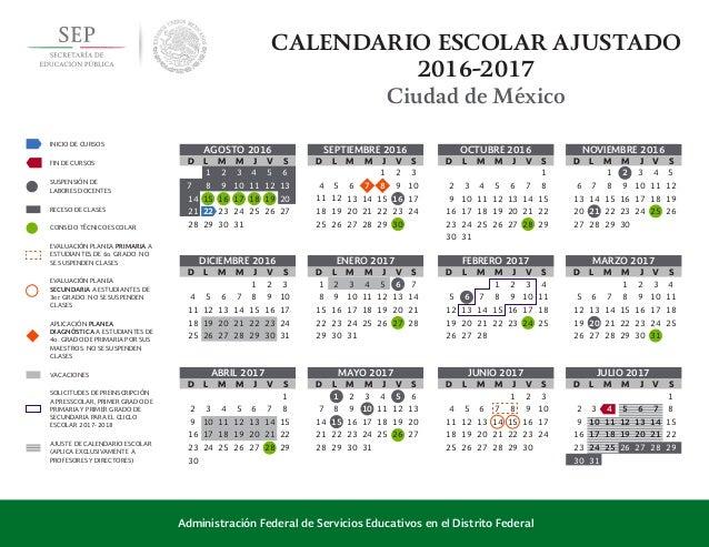 calendario oficial 2016 2017