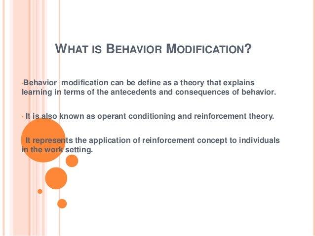 Behaviour Modification Slide 3